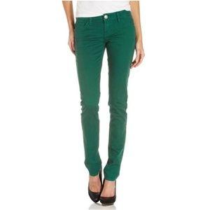 Zara Denim Forest Green Skinny Jeans Size 4